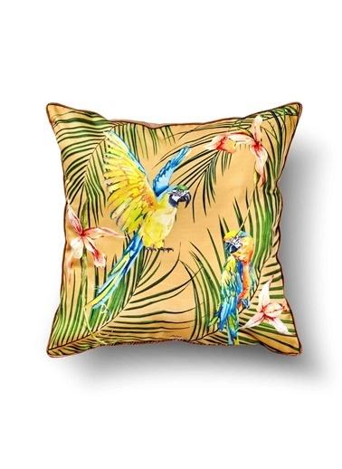 The Mia Tropik Yastık - Parrot Sarı 50 x 50cm Renkli